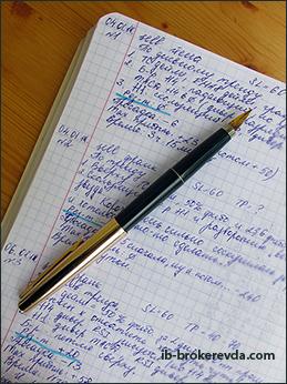 Дневник сделок.
