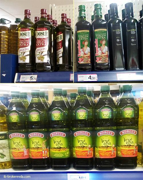 Испанское оливковое масло цена
